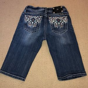 Miss Me Girl's Bermuda Jean Shorts